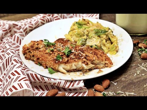 Keto Almond Crusted Fish & Cheesy Brussel Sprouts Recipe
