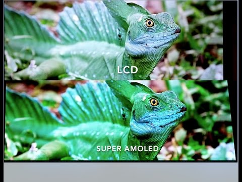 LCD vs SUPER AMOLED Side to Side Comparison