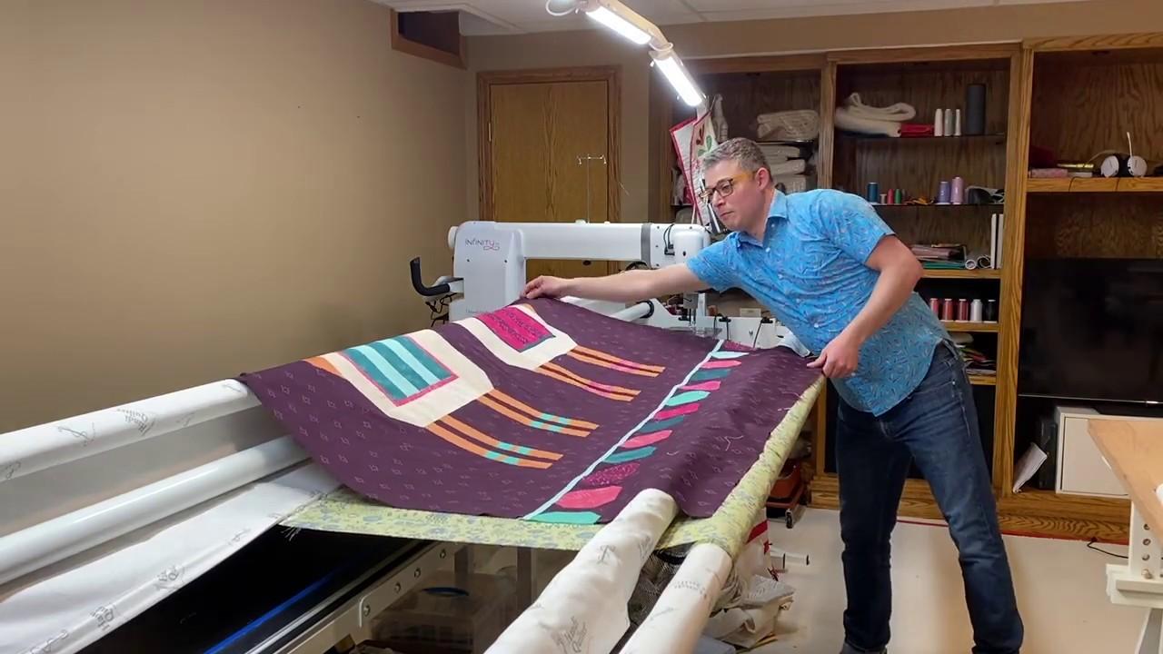 Loading a Quilt, Burrito Method