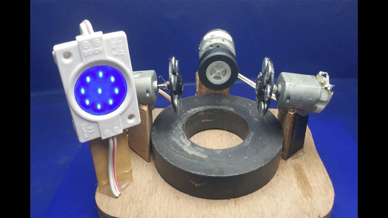 How to make free energy light 12v bulbs using motor with for How to make free energy magnet motor