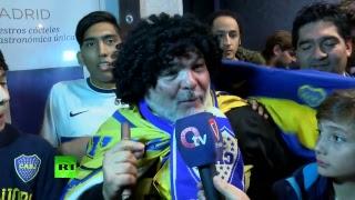 بالفيديو: بوكا جونيورز يصل العاصمة الإسبانية مدريد