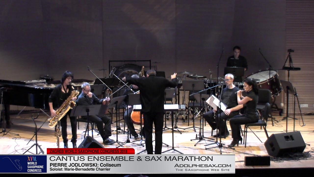 Coliseum by Pierre Jodlowski Sol: Marie Bernadette Charrier   Cantus Ensemble & Sax Marathon  XVIII