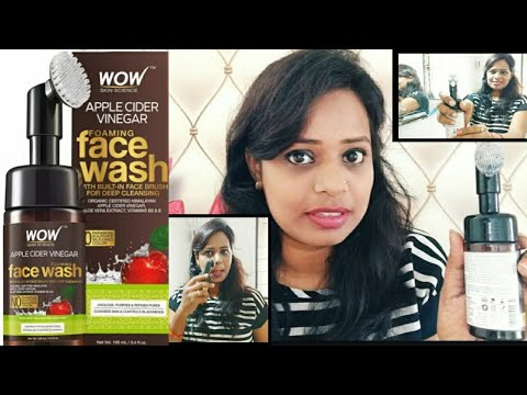 wow-apple-cider-vinegar-foaming-face-wash-with-built-in-brush-+-demo-remove-blackheads-giv-soft-skin