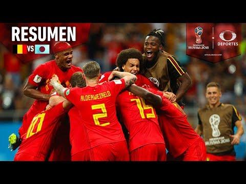 ¡Bélgica logra pasar a cuarto!   Resumen Bélgica 3 - 2 Japón   Octavos   Mundial Rusia 2018