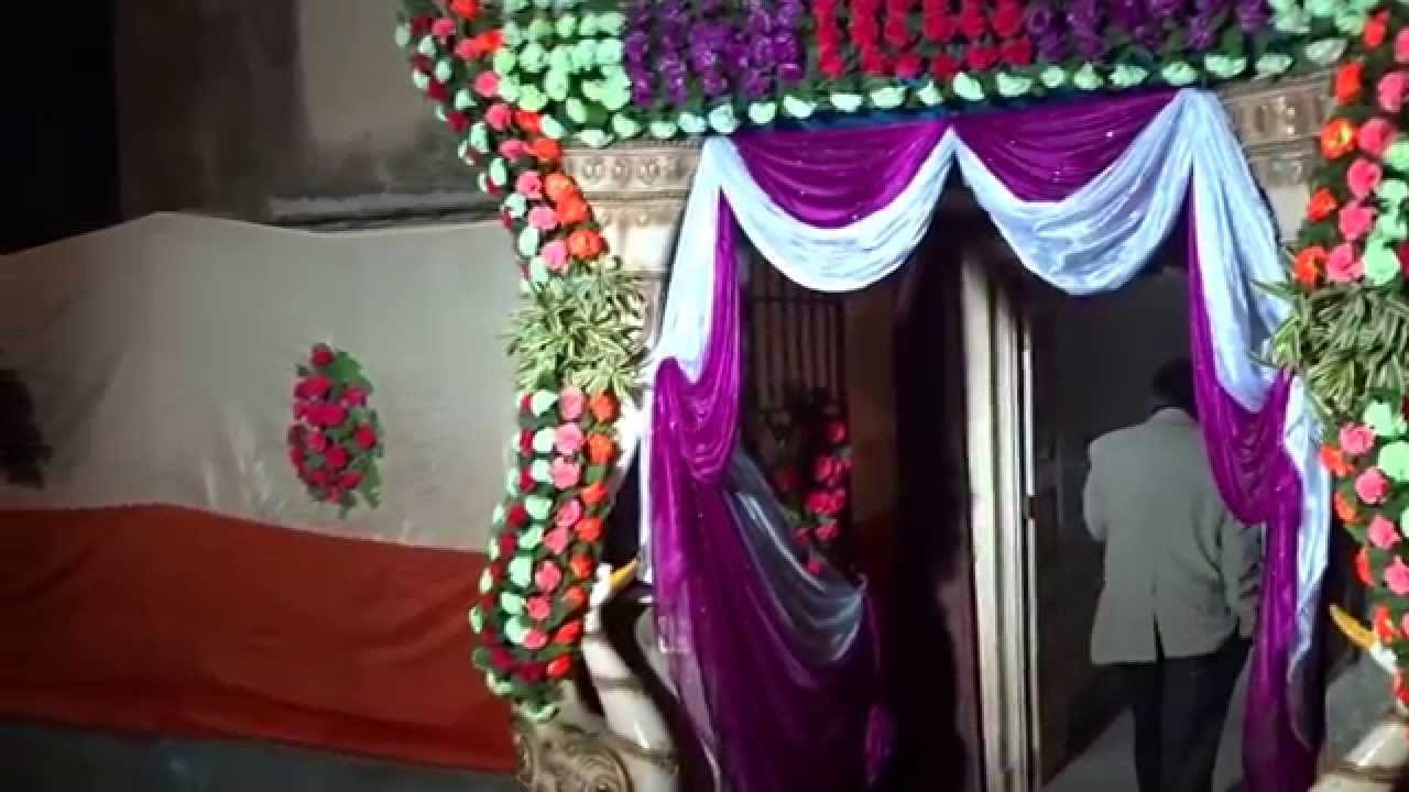 Beautiful marriage house gate decoration youtube for Marriage home decoration