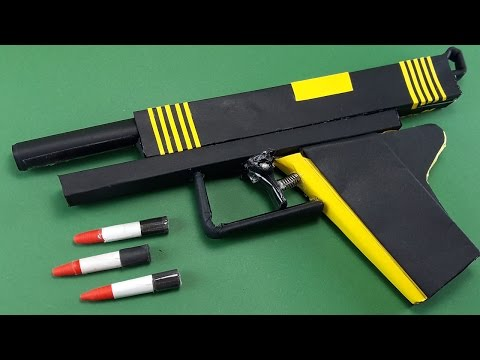 |DIY| How To Make A Paper Bee  Gun That...
