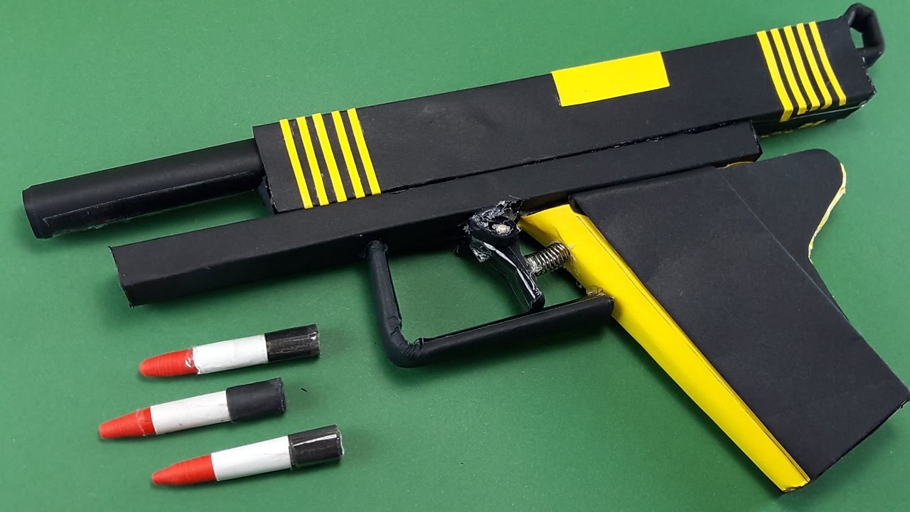Diy How To Make A Paper Bee Gun That Shoots New Trigger
