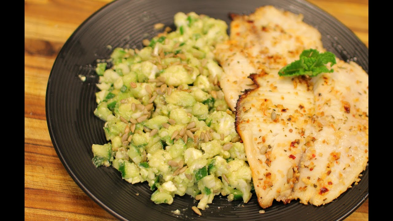 Keto Tilapia And Cauliflower Salad Healthy Recipe Channel Keto Recipe Dinner Nutrition Keto Youtube