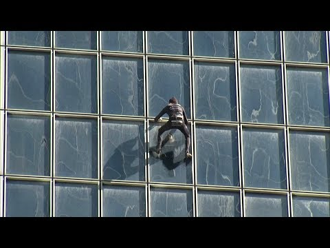 At age 55 and after 150 buildings, 'French spiderman' keeps climbing