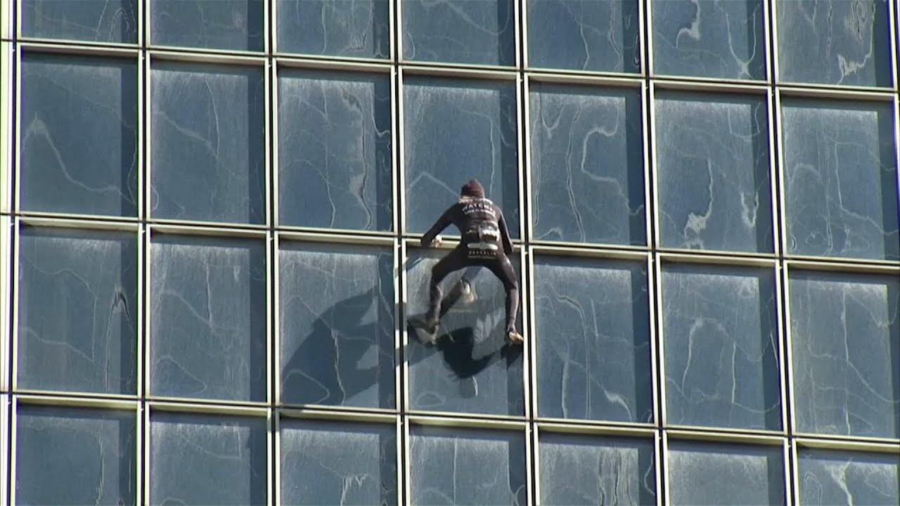 At Age 55 And After 150 Buildings French Spiderman Keeps Climbing