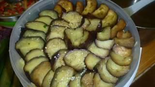 Острые маринованные баклажаны с болгарским перцем