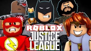 JUSTICE LEAGUE IN ROBLOX Roblox with Mel in Spanish
