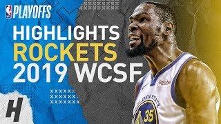 Kevin Durant Full Series Highlights vs Rockets | 2019 NBA Playoffs WCSF