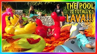 THE POOL IS LAVA! | OUR FIRST POOL PARTY | We Are The Davises thumbnail