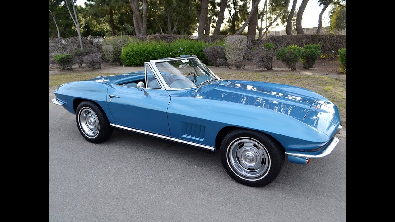 Sold 1967 chevrolet corvette convertible marina blue 300hp 4 speed for sale by corvette mike youtube