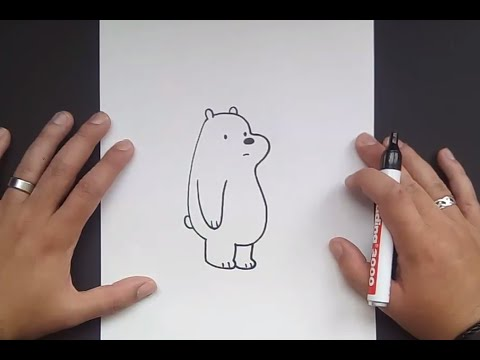 Como dibujar a Polar paso a paso - Somos Osos | How to draw Ice Bear ...