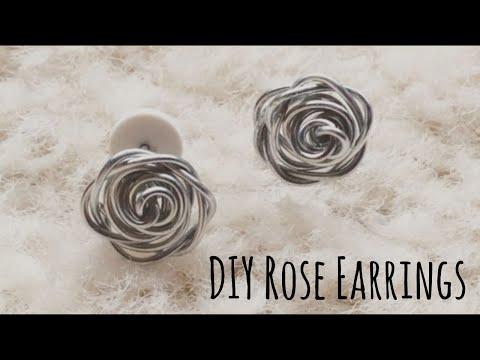 Easy DIY Rose Earrings