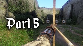 Kingdom Come Deliverance Gameplay Walkthrough Part 5 - COMBAT & ARCHERY TRAINING (Full Game)