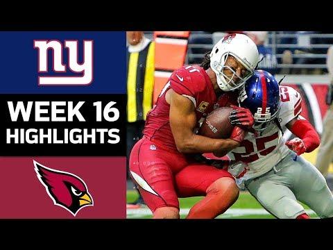 Giants vs. Cardinals | NFL Week 16 Game Highlights