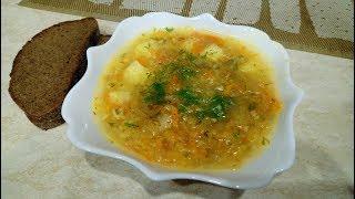 Капусняк (Щи) с квашеной капустой и пшеном. Постный суп