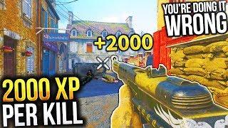 GET 10,000 XP PER MINUTE! LEVEL UP QUICK & PRESTIGE FAST (Call of Duty WW2 Prestige Tips)