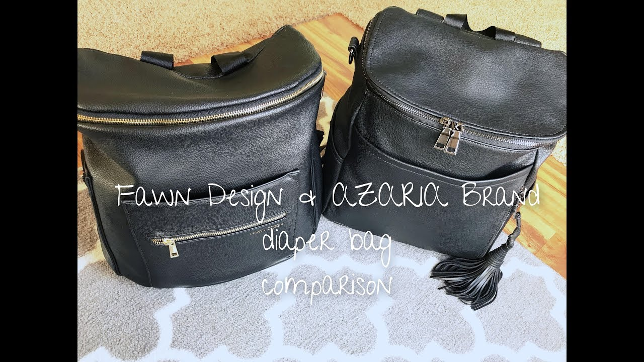 5cf13763ba FAWN DESIGN original   AZARIA BRAND la mere DIAPER BAG COMPARISON ...