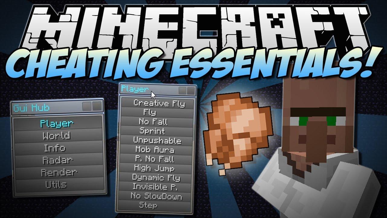 Minecraft CHEATING ESSENTIALS Chest Finder Flying More - Minecraft spieler finden mod