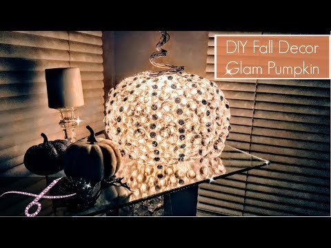 DIY Fall Room Decor Glam Pumpkin Centerpiece - Dollar Tree Items - DIY Fall Decor - DIY Table Decor