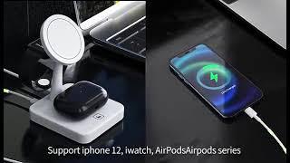 아이폰 12 애플워치 에어팟 시리즈 맥세이프 3in1 …