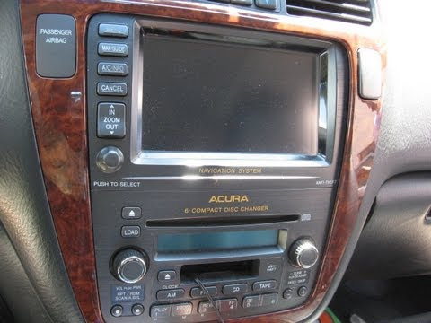 2007 Acura Mdx Wiring Harness How To Remove Navigation Dvd Player From Acura Mdx 2004