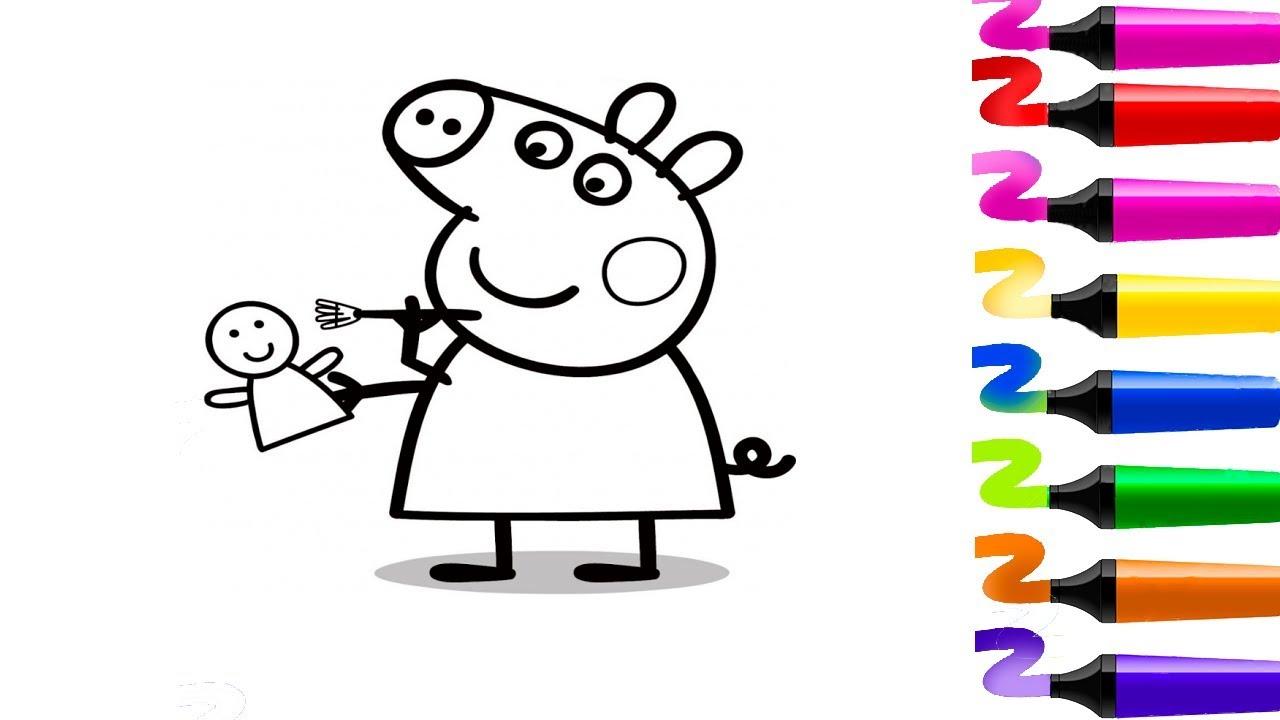 Dessiner Peppa Pig Midi Les Zouzous Coloriage Peppa Pig France 5 Les Zouzous Coloriage Peppa Pig