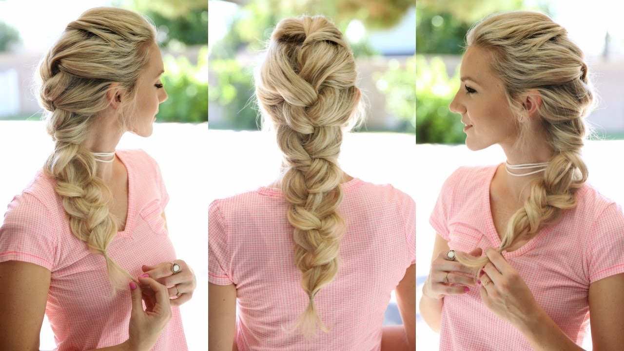 big french braid elsa braid youtube