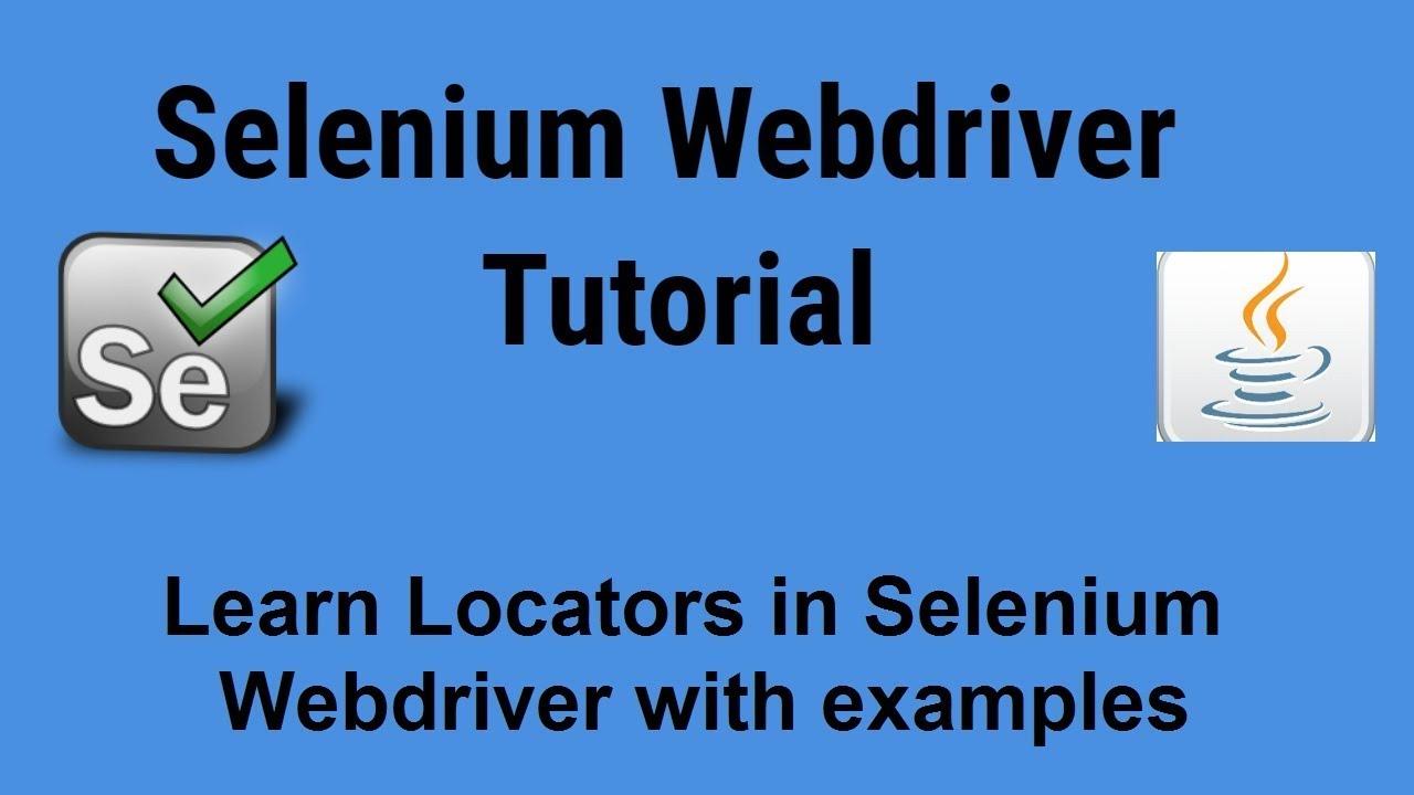 locators in selenium webdriver