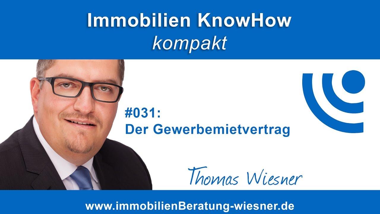Podcast #031: Der Gewerbemietvertrag - YouTube