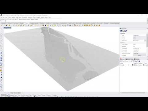 1/4  Creating Rhino Terrain: DEM download QGIS Import