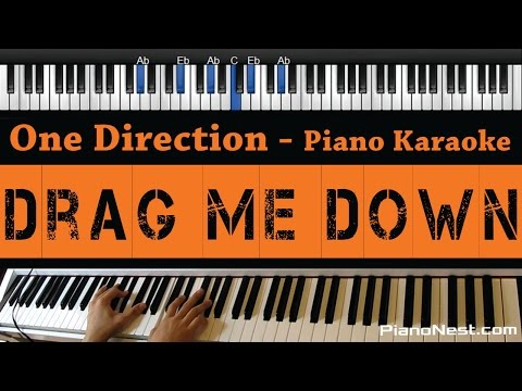 One Direction - Drag Me Down - Piano Karaoke / Sing Along / Cover With Lyrics