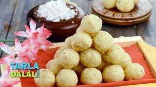 Coconut Rava Laddoo By Tarla Dalal