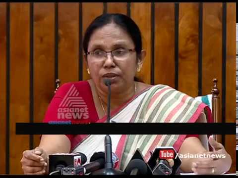 Minister K. K. Shailaja teacher Press meet - 21 Aug 2017