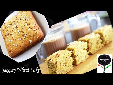 Jaggery-Wheat (Atta) Cake| No-Sugar Snack/Tea Cake