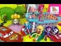 Май Литл Пони Мультики с Игрушками Эквестрия Герлз Мини Куклы Вечеринка в Бассейне от Барби
