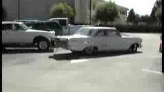 Vince's 63 Chevy II SS Cruising to Legends Diner