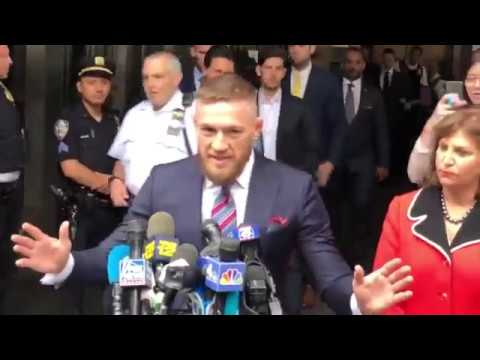 Conor McGregor issues statement following court appearance for UFC 223 Bus Attack