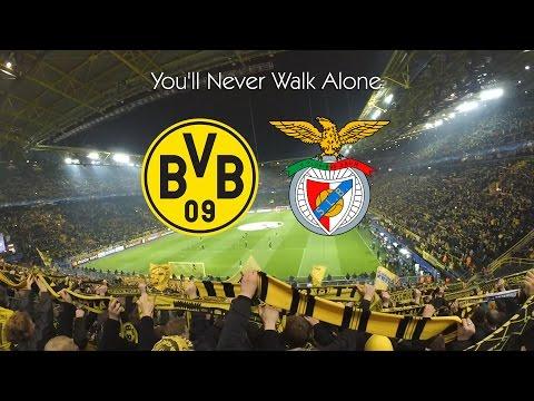 Borussia Dortmund vs Benfica 4:0 - You'll Never Walk Alone | BVB SLB 08.03.17