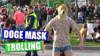 Doge Mask Public Trolling (funny hilarious reactions!)