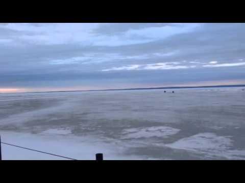 Ice fishing updates lake erie eastern basin youtube for Lake erie fishing report central basin