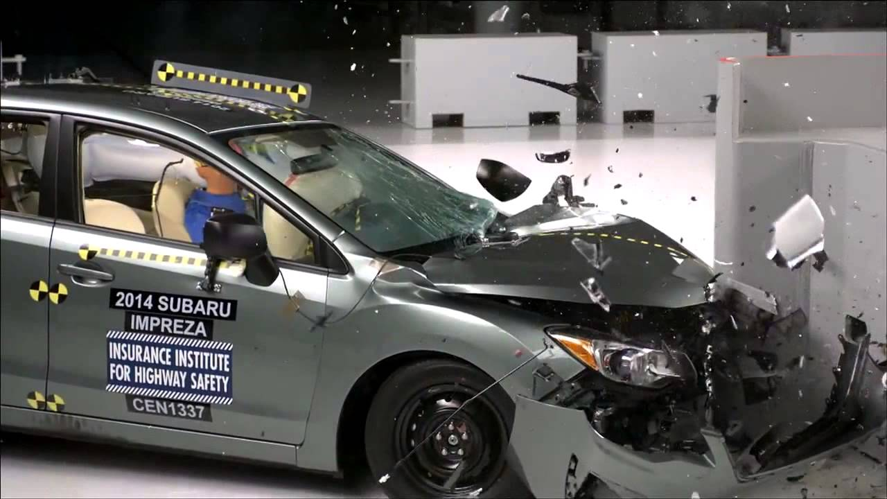 IIHS  2014 Subaru Impreza  small overlap crash test  GOOD