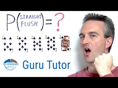 5-card Poker STRAIGHT FLUSH Probability And Odds