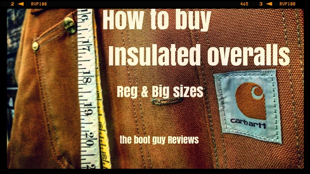 bbbbb7f42a5f How to buy Insulated overalls   The boot guy REVIEWS   - YouTube