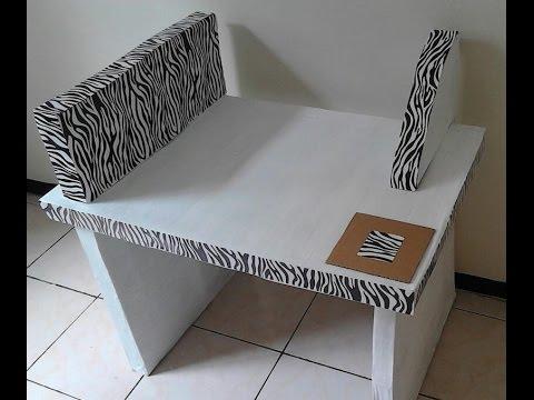 como hacer mueble escritorio con cart n reciclado youtube