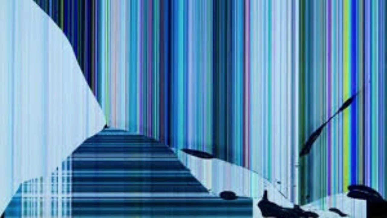 Broken Tv Screen Background خلفيه شاشه مكسوره Youtube